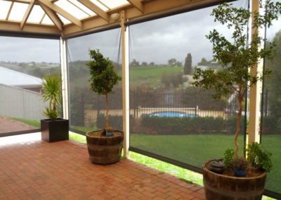 Privacy and shade with crank blinds at Onkaparinga Hills