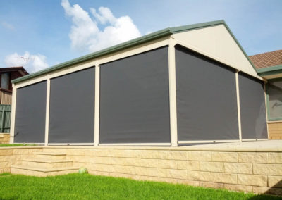 Shade and privacy with Ziptrak blinds at Morphett Vale-1