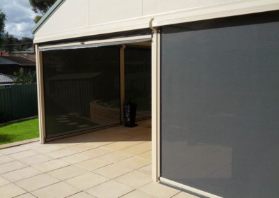 Shade and privacy with Ziptrak blinds at Morphett Vale